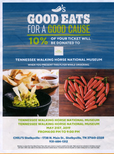 Chilis- give back event flyer