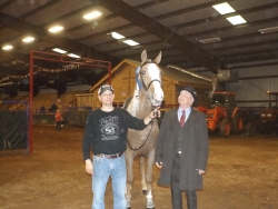 Phil Janke's new ride, I'm Widespread Panic with John Calicutt after winning the 4 yr old Amateur class .jpg