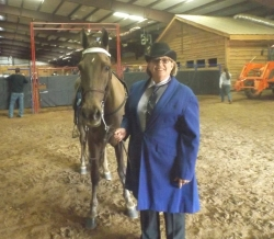 Princess Power and Terri Smith take the Am Trail Pleasure class .jpg