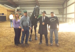Santana's Bama Boy and Tyler Baucom with The Crisp's and Chad Baucom, after winning the Show Pleasure class.jpg